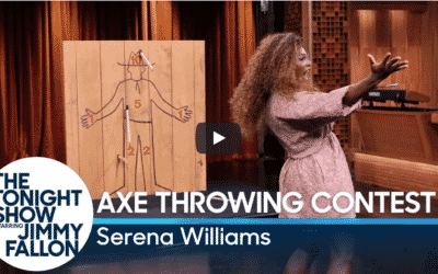 Jimmy Fallon Does Axe Throwing