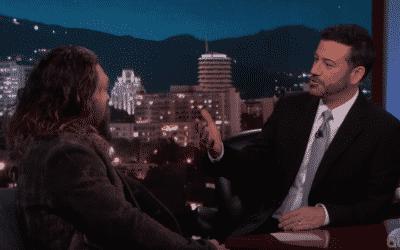 Jimmy Kimmel Throws Axes With Jason Momoa